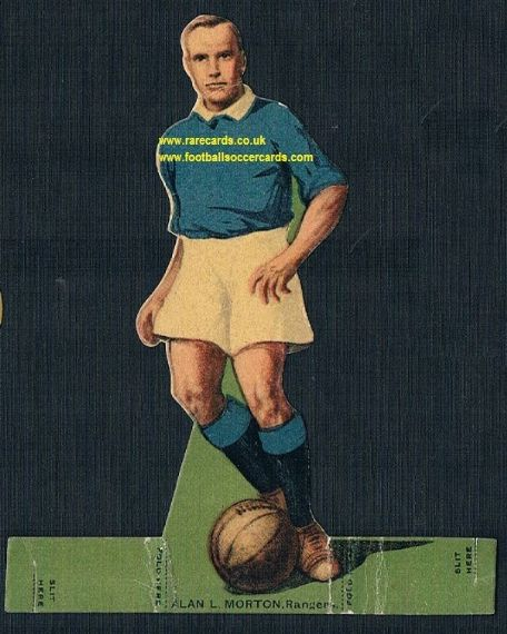 1923 Rover stand-up Alan Morton Rangers All Star GB Select XI